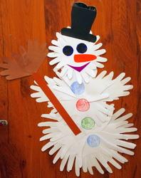 поделки снеговики из бумаги инструкция