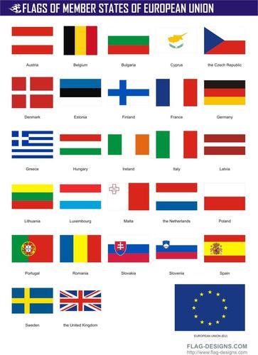 Политическая карта мира с флагами арт
