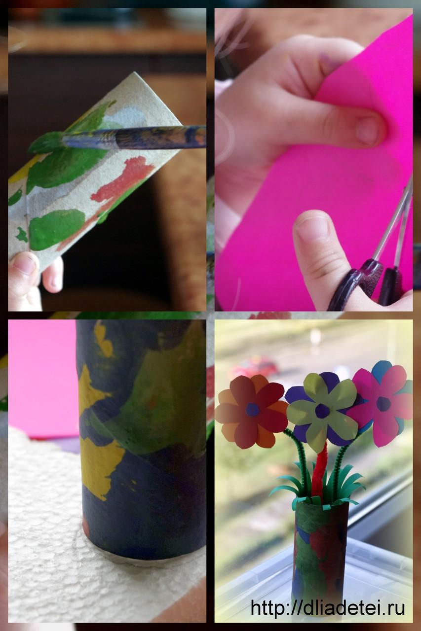 Ваза из бумаги цветы фото