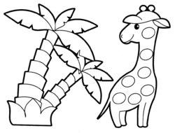 Раскраски для малышей жираф