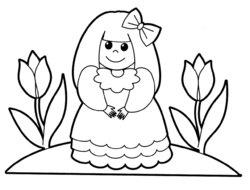 Раскраски для малышей кукла