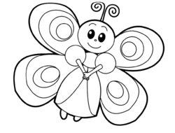 Раскраски для малышей бабочка