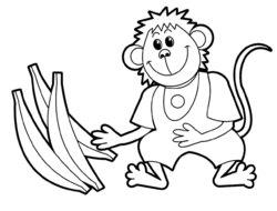 Раскраски для малышей обезьянка