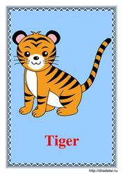 Карточки с изображением животных на
