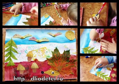 Осенние поделки для детей из сухих