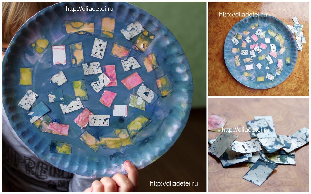 Детские поделки из одноразовых тарелок, поделки с цветом для детей, игра цвета