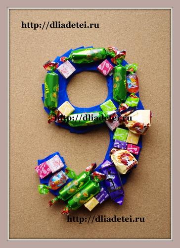 Сладкий подарок ребенку на день рождения