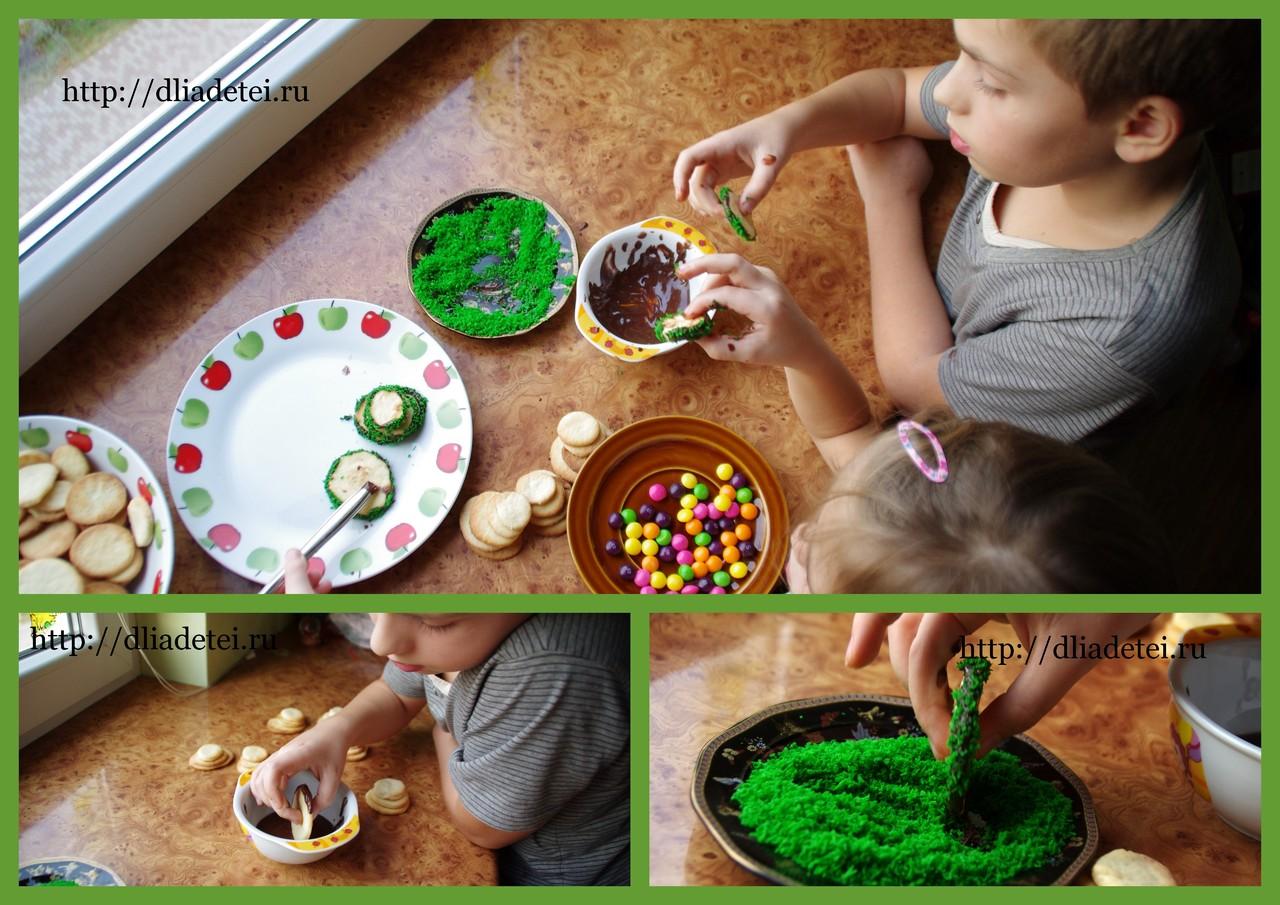 Рецепты печенья готовят дети